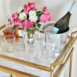 faux-marble-bar-cart-makeover