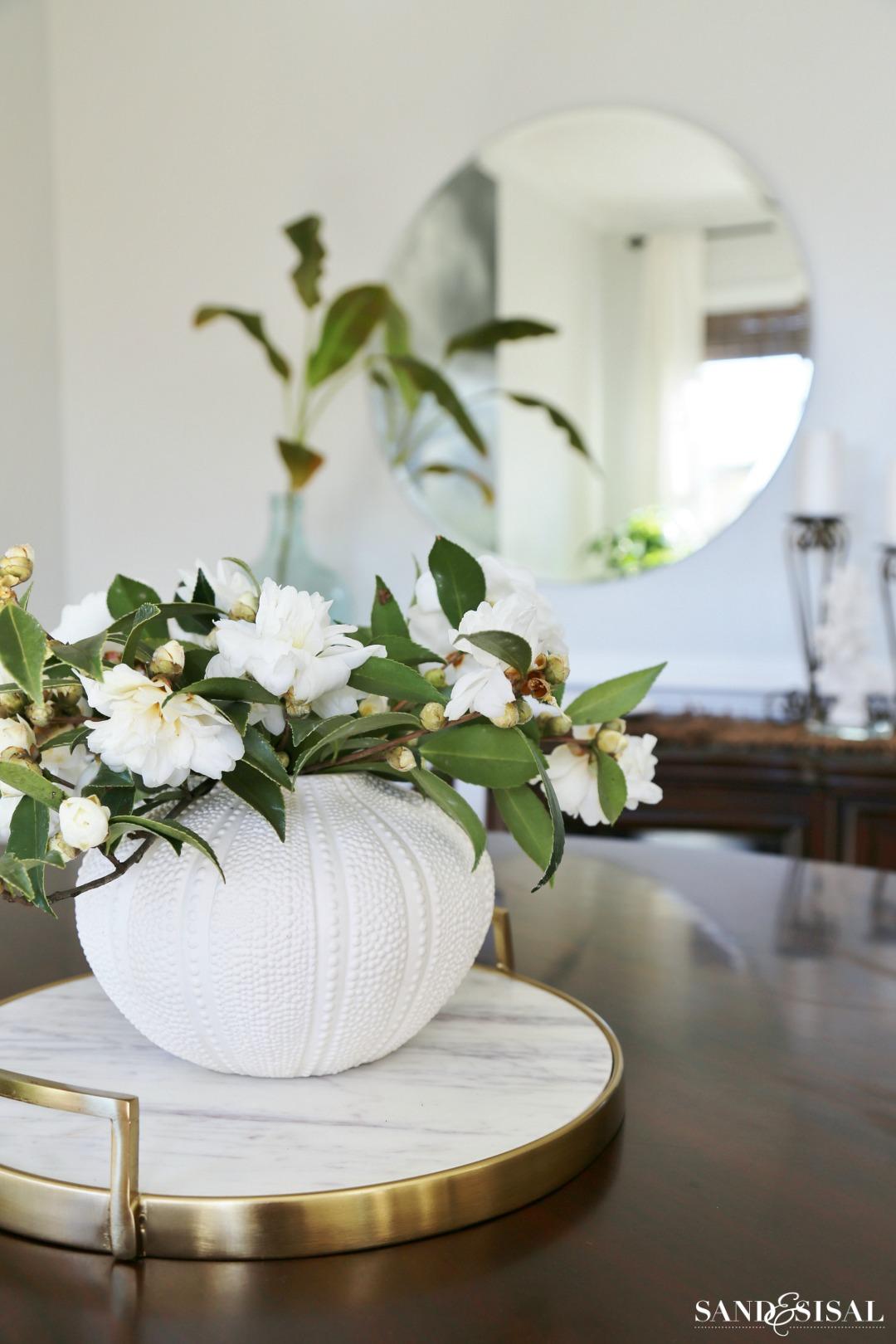white-camellia-centerpiece