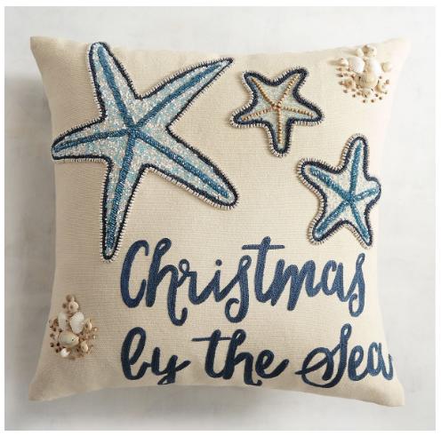 25+ Festive Coastal Christmas Pillows - Sand and Sisal
