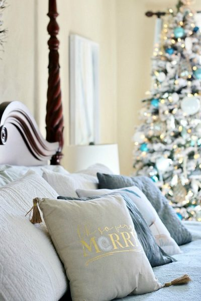 A Classic Coastal Christmas Bedroom Tour