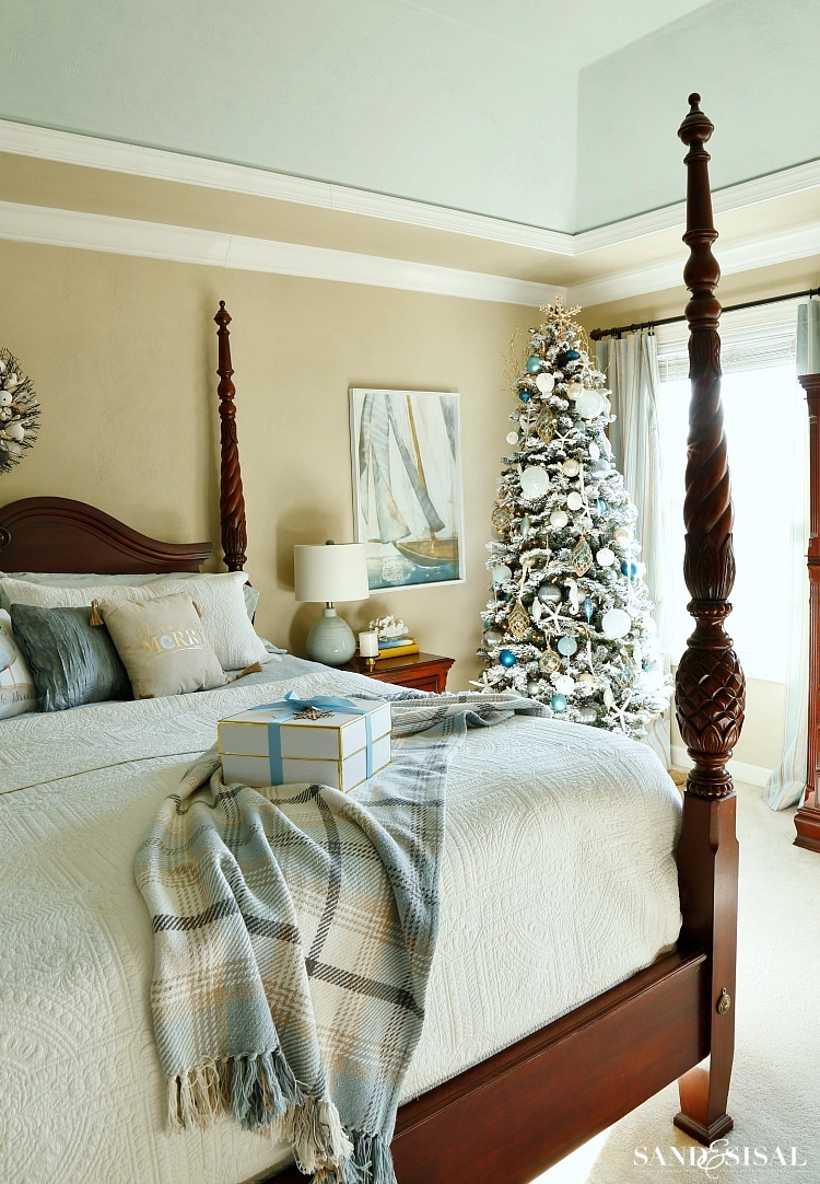 coastal christmas decor and coastal bedroom tour - Coastal Christmas Decor