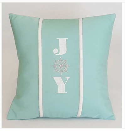 joy-holiday-pillow Coastal Christmas Pillows