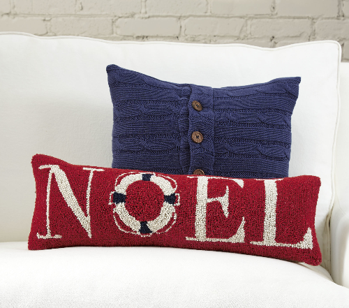 noel-coastal-pillow - Coastal Christmas Pillows