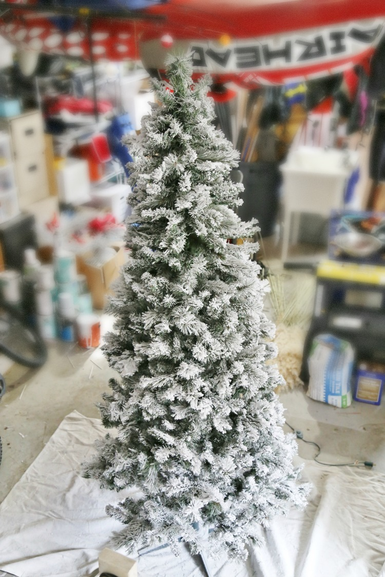 flocked christmas tree how to flock a tree and greenery sand and sisal 29886