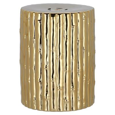 Gold Bamboo Garden Stool