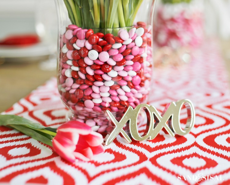 Easy Valentine's Day Decor - Candy Filled Vase