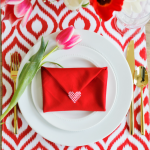 Valentine Envelope Napkin Fold Video Tutorial