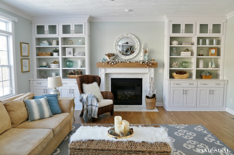 Winter Decorating Ideas for the Familyroom