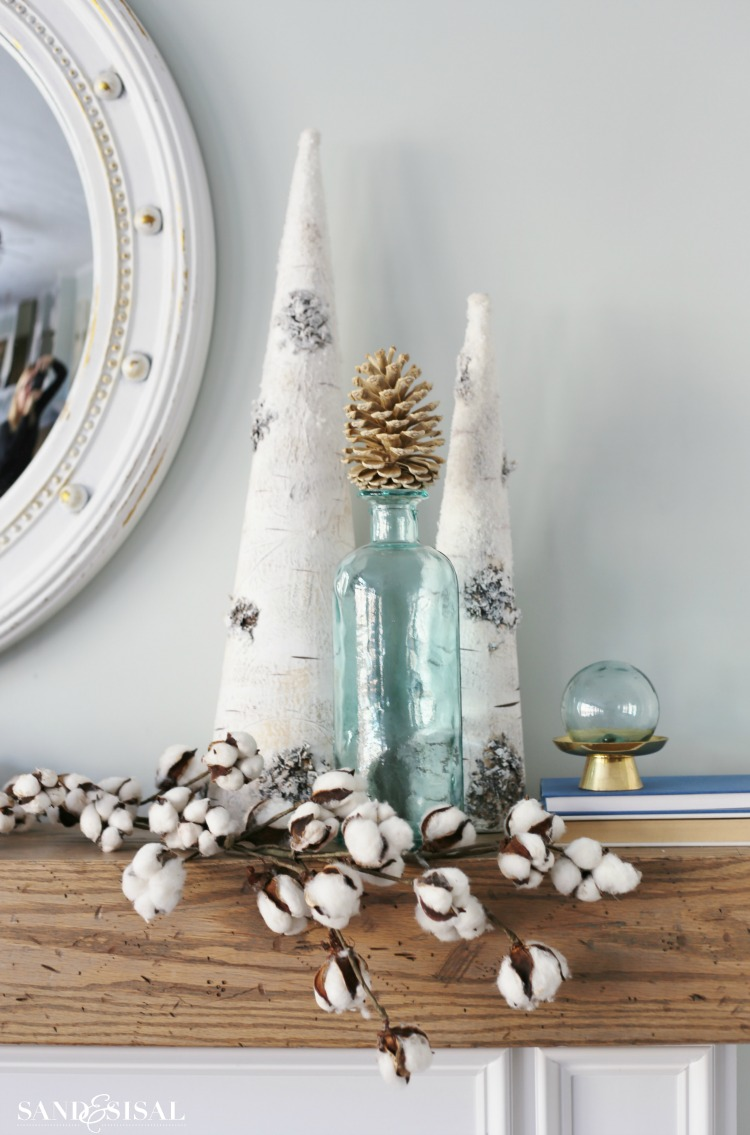 Cozy White Winter Mantel
