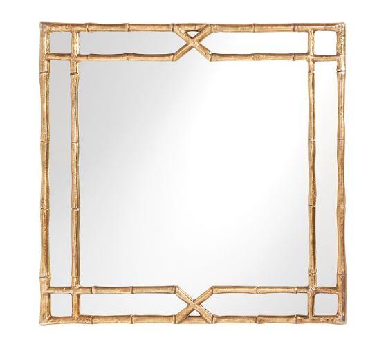jasmine gold bamboo mirror