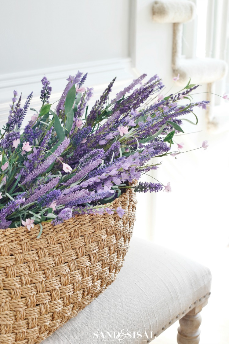 Basket of Lavender - Spring Decorating Ideas