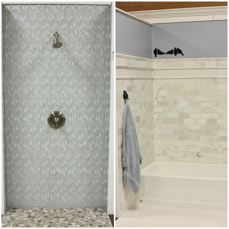 Glass Tile and Marble Bathroom Examples