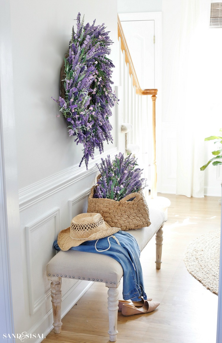 Lavender Wreath and Basket