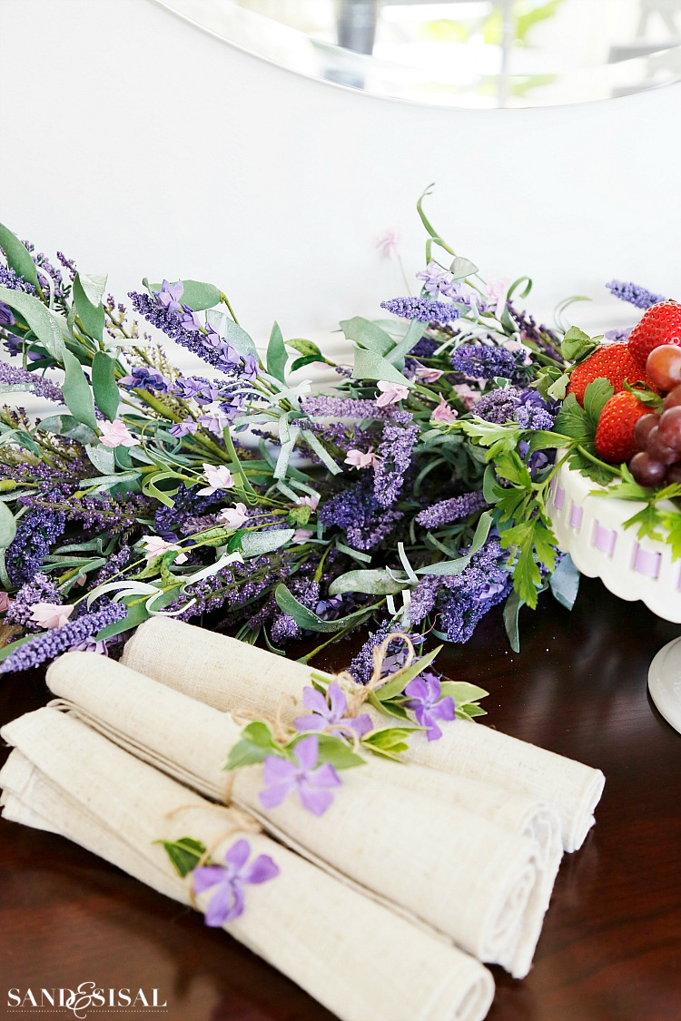 Spring Decorating - Faux Florals - Lavender Garland