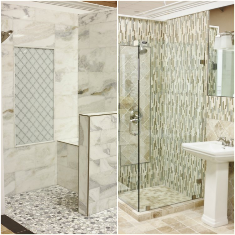Tile bathrooms - Floor and Decor