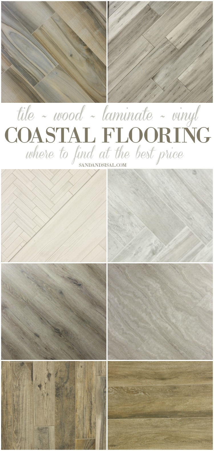 Best Flooring for a Beach House - Where to get premium tile, wood, luxury vinyl, and bamboo with lots of pics of coastal rooms. These weathered wood looks are gorgeous.