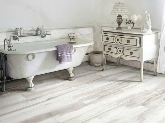 Marthas Vineyard Cottage White Wood Plank Porcelain Tile Part 85