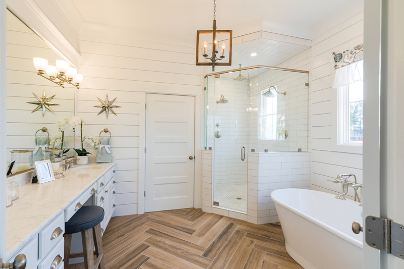 bathroom floor tile plank.  Plank Porcelain Tile Master Bath Best Flooring For A Beach House Sand And Sisal
