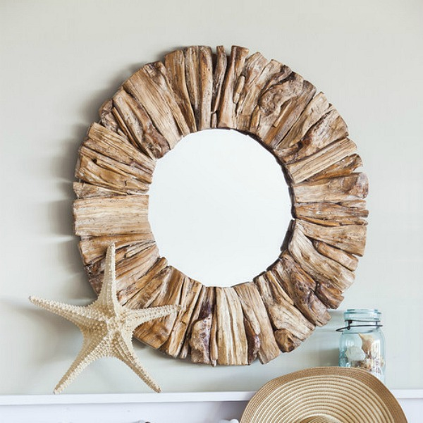 Beachcrest Home Driftwood Mirror 2