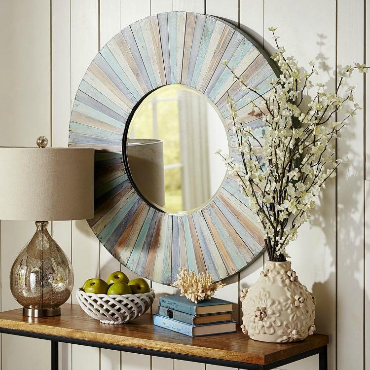 White Washed Eternal Wood Mirror