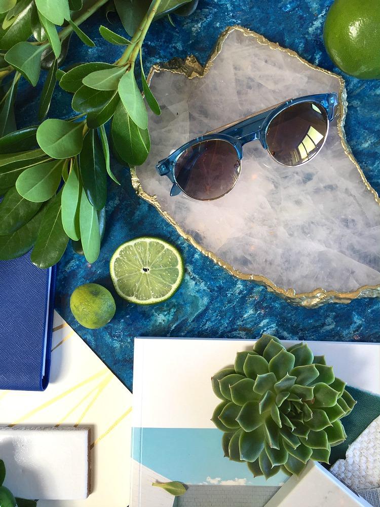Cambria Design Challenge - Sand and Sisal - Coastal Chic Retreat Design Board
