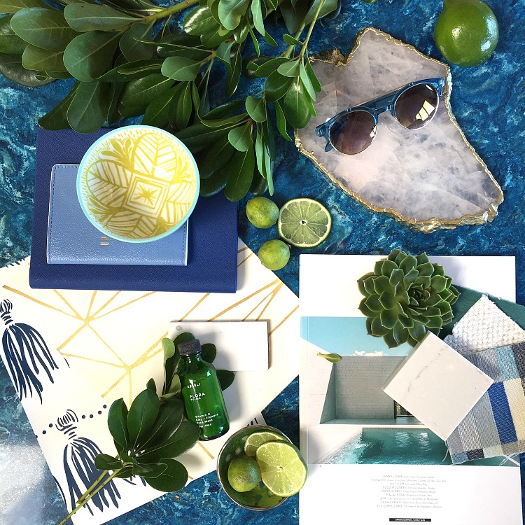Cambria Design Challenge - Sand and Sisal - Coastal Chic Retreat Design Board