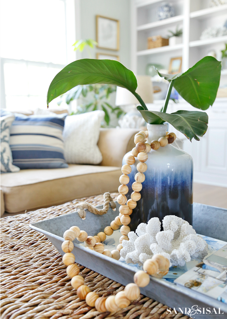 DIY Wood Bead Strand - Coastal Decor
