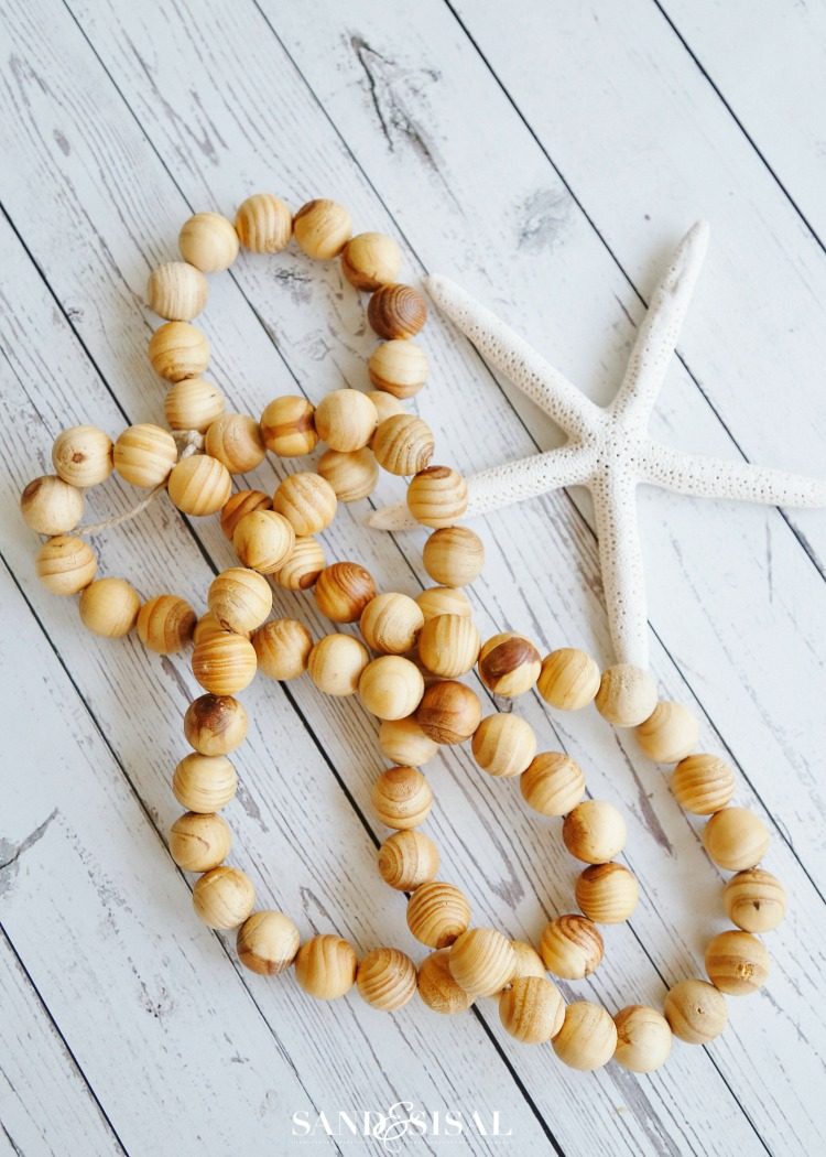 DIY Wood Bead Strand - Easy Coastal Craft