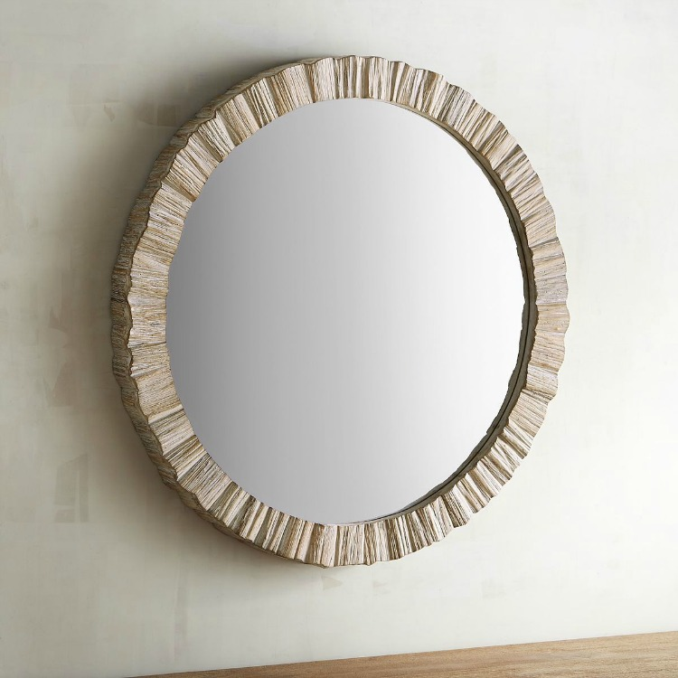 Affordable fabulous driftwood mirrors sand and sisal for Circle mirror