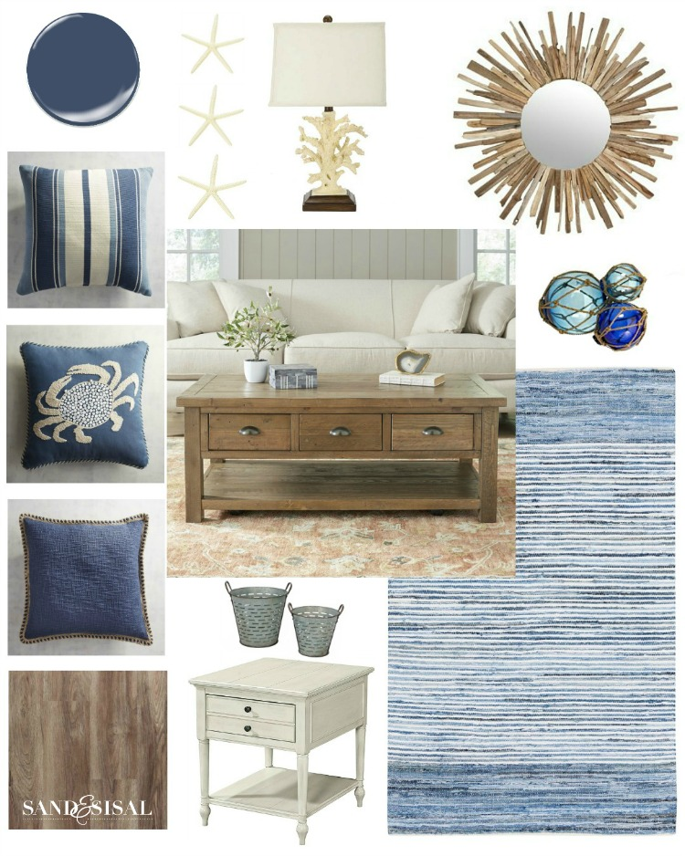 Media Room Makeover Design Board