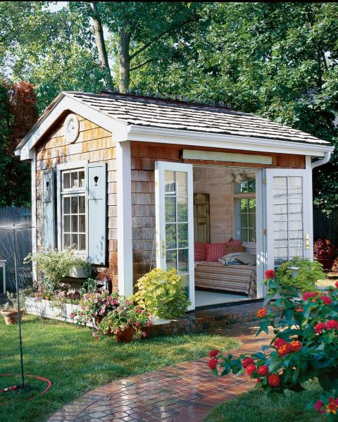 Shaker Shingle She Shed