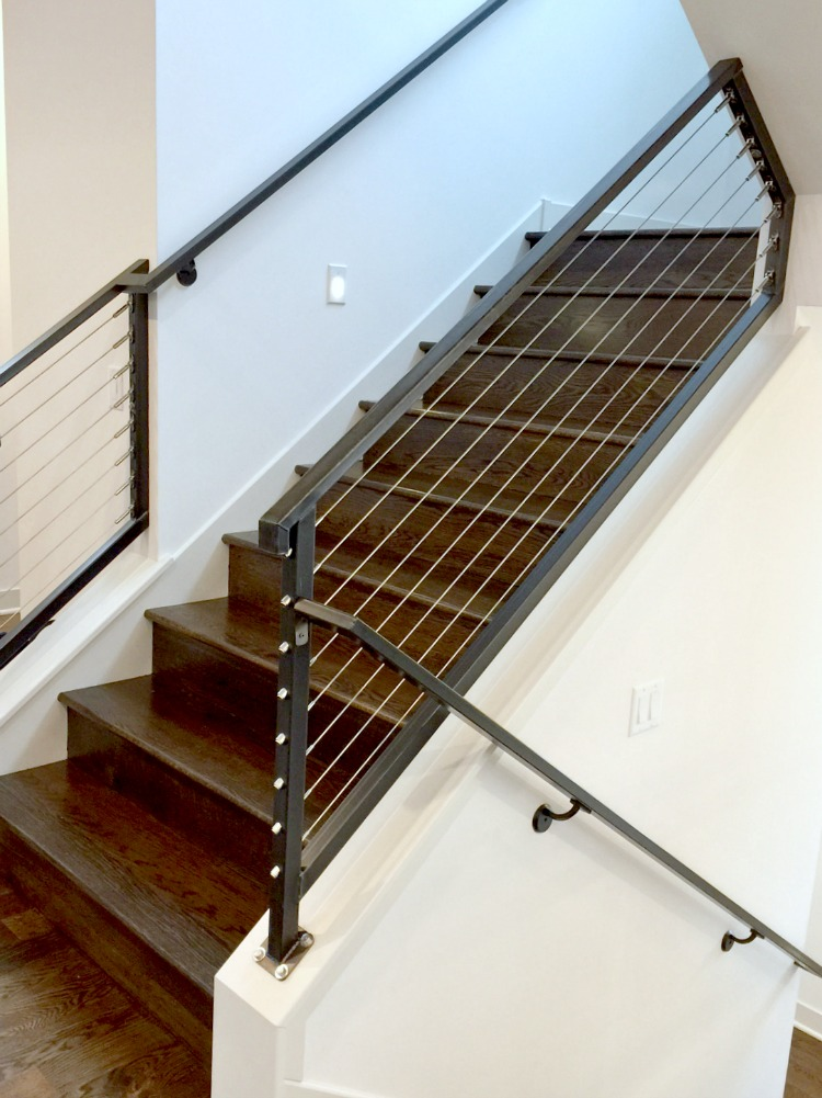 Sustainable9 Home Tour - Industrial Staircase