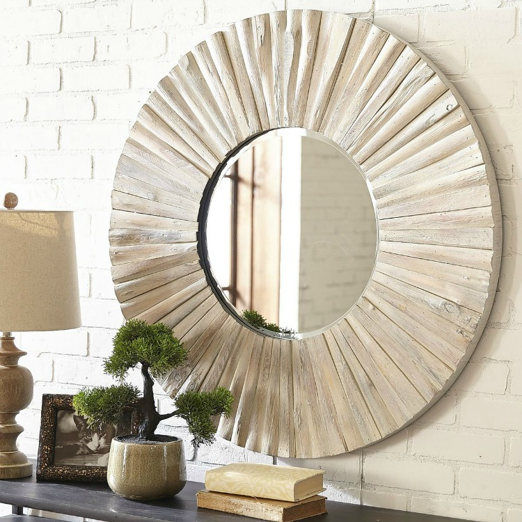 White Washed Eternal Wood Mirror