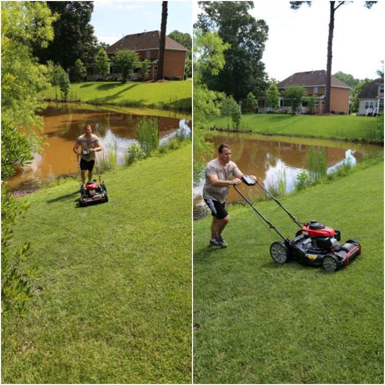 Troy-bilt 4x4 mower is great for slopes.