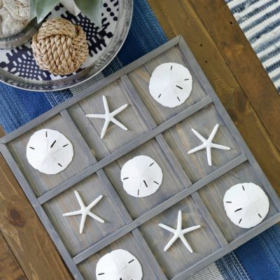 DIY Coastal Tic-Tac-Toe