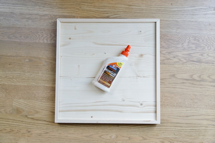 DIY coastal tic tac toe board - step 2