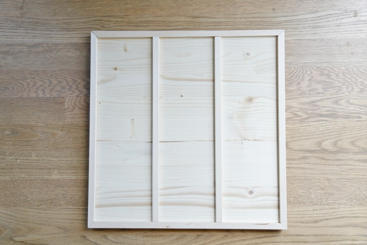 DIY coastal tic tac toe board - step 3