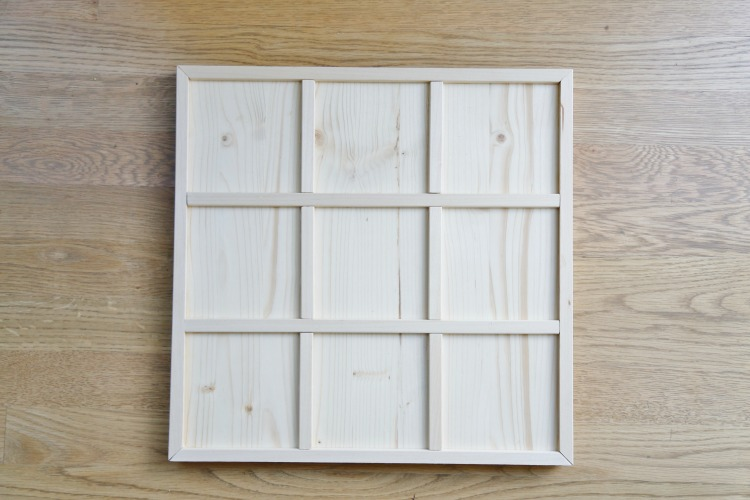 DIY tic tac toe board step 4