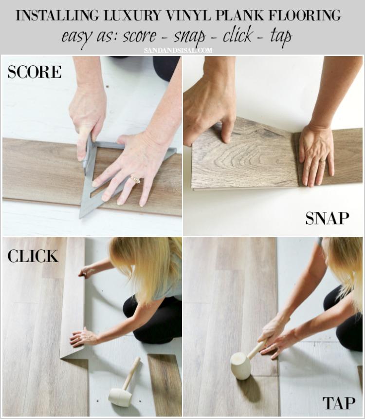 Installing Luxury Vinyl Plank Flooring - score snap click tap
