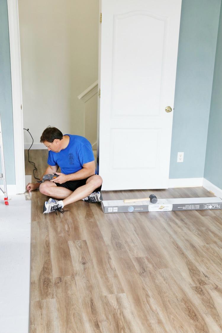 How To Install Luxury Vinyl Plank Flooring Sand And Sisal