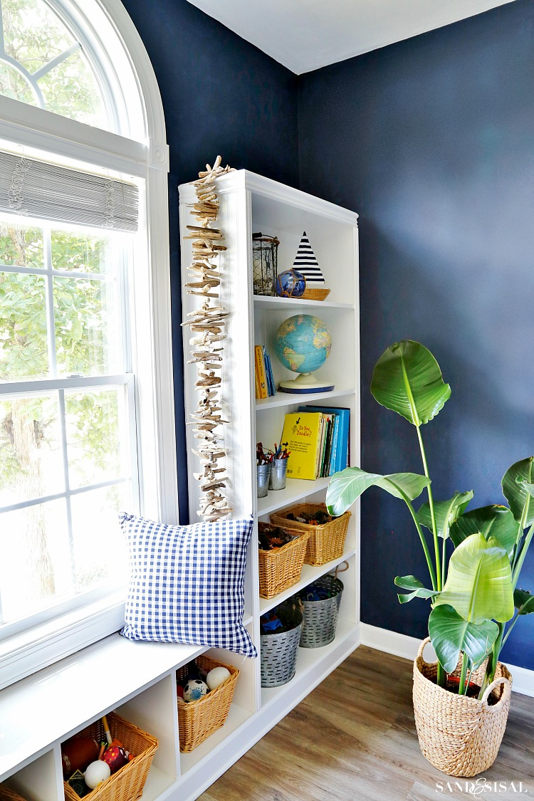 Play room makeover - Naval Walls