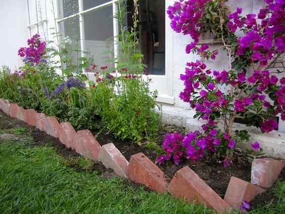 Diagonal Brick Edging