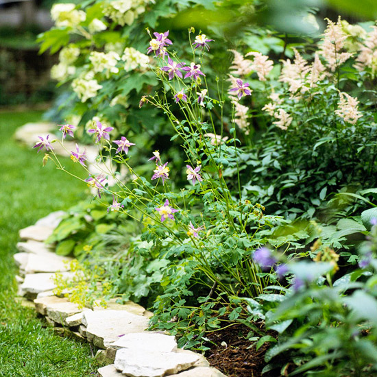 Stacked Flagstone Garden Edging