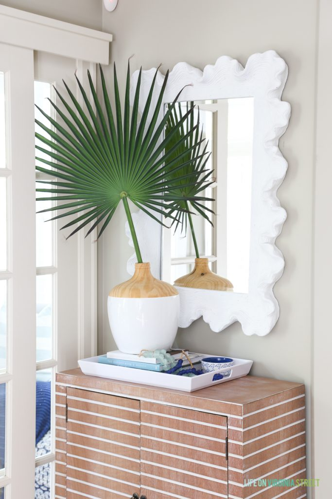 Entryway Table Palm Frond 683x1024