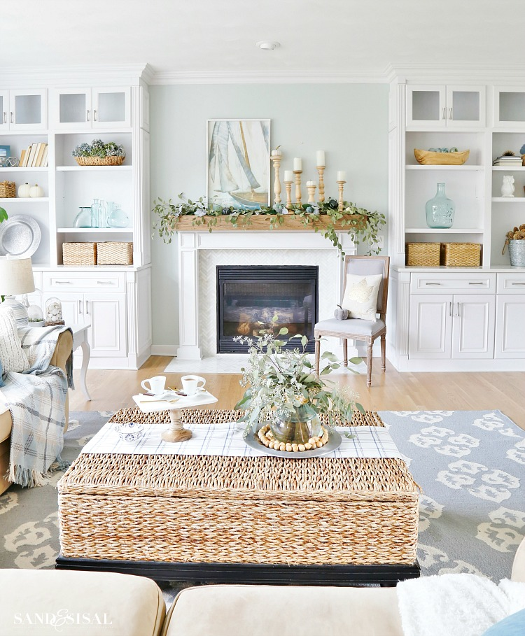 Coastal Fall Family Room Tour