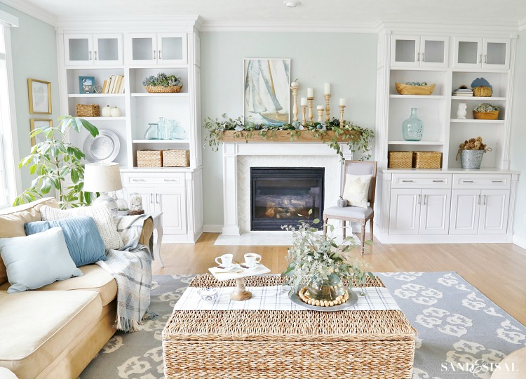 Coastal Fall Family Room