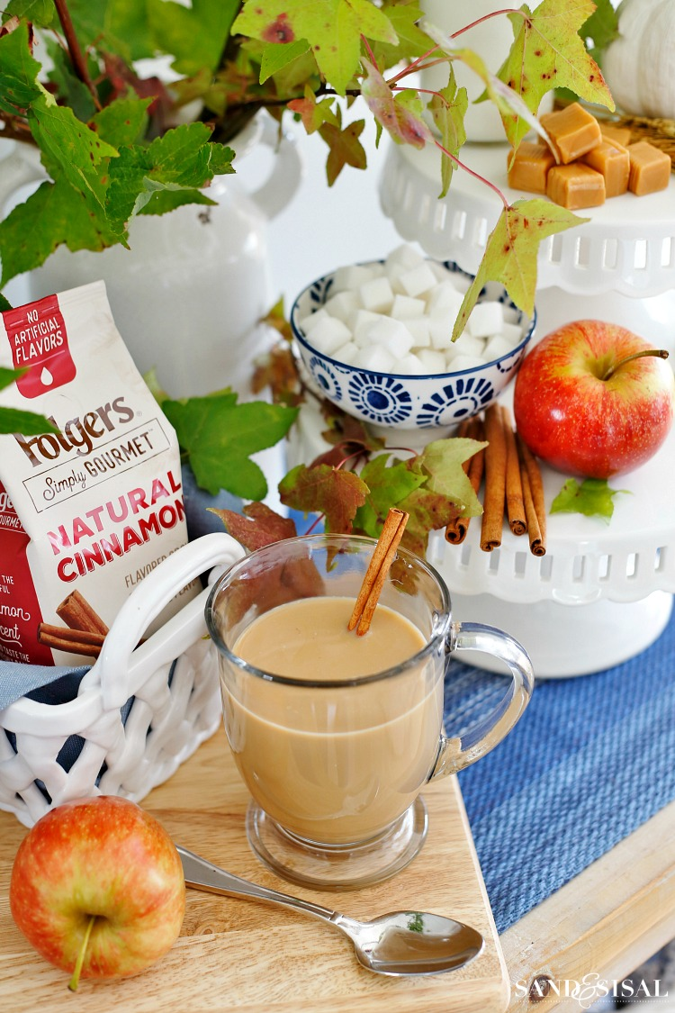 Fall Coffee Bar - Folgers Simply Gourmet Cinnamon Coffee