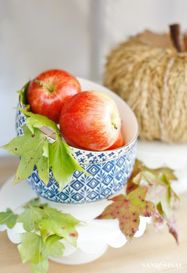 Red Apples in Blue Bowl