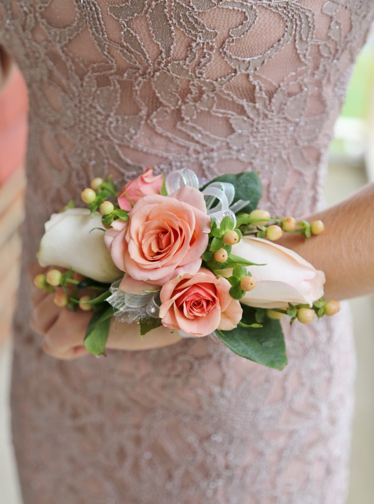 Blush Rose DIY Wrist Corsage