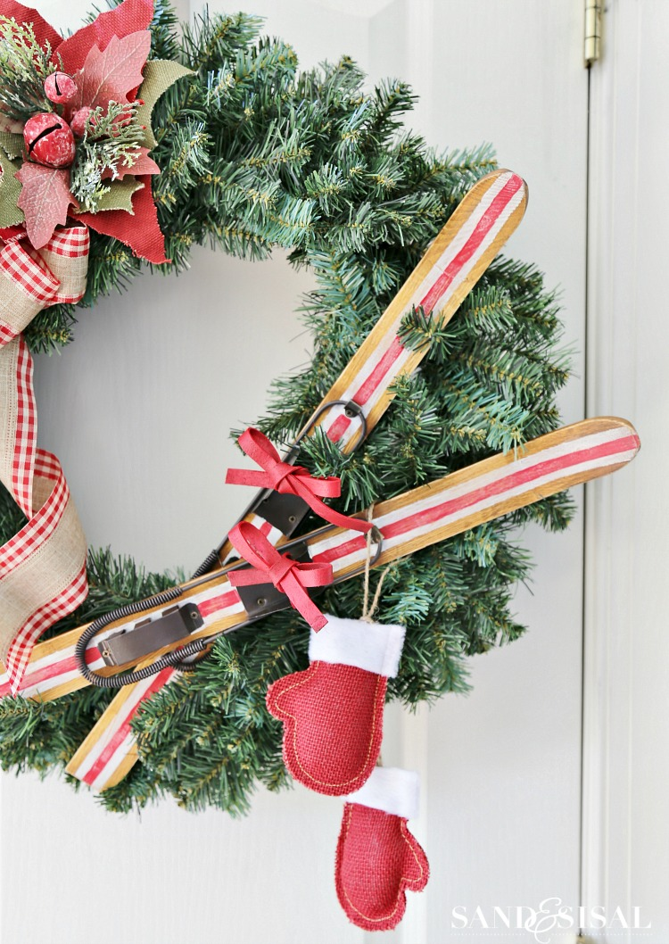 DIY Ski Lodge Wreath